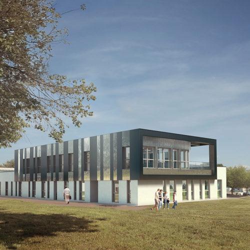 Marian Rubio Architectes Projet Bâtiment Cencyble Campus De Rennes 2