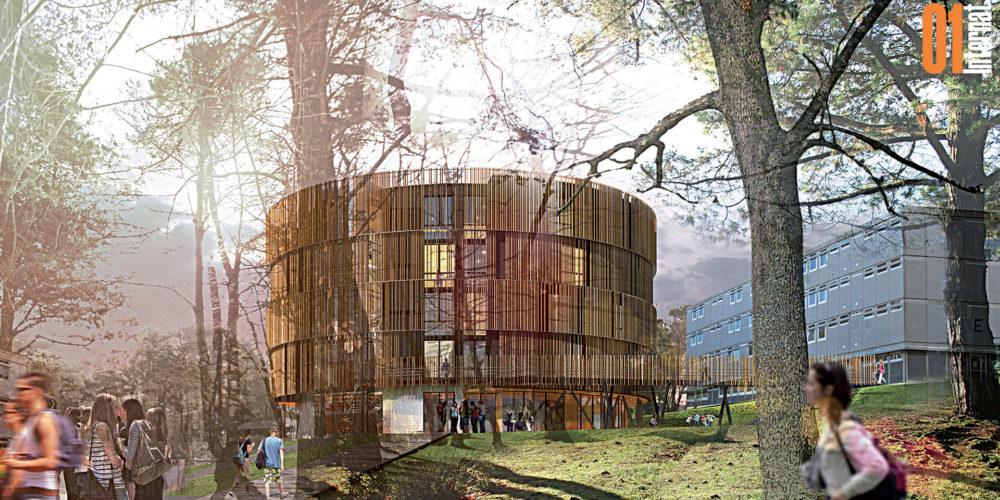 Marian Rubio Architectes Projet Internat Et Chaufferie Bois 1
